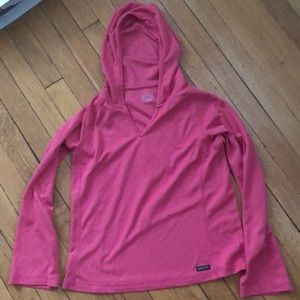 Athleta size M pullover pink dry fit hoodie